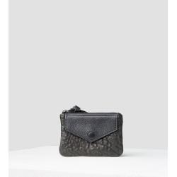 Mini-porte monnaie bubble-lisse noir