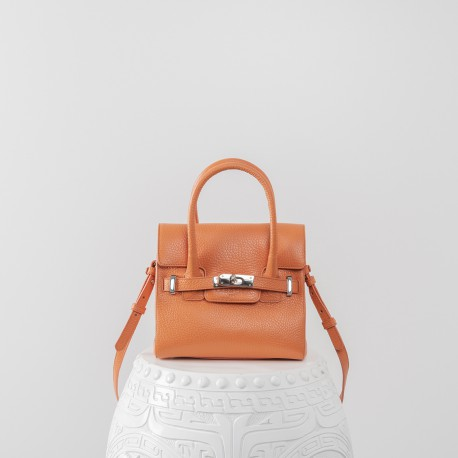 Sac Nano  Bellecour  Nano Modèle grainé Orange