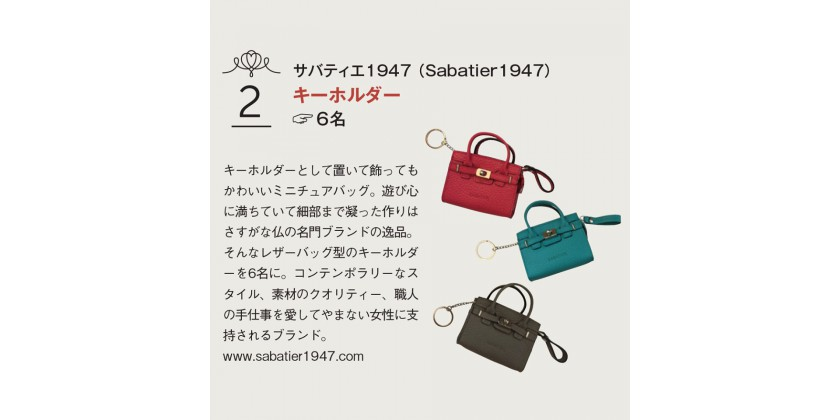 Japanese magazine Senken H really liked our Mini-Sacs!