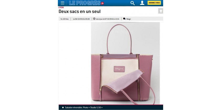 Le S, the convertible leather handbag in the newspaper Le Progrès !